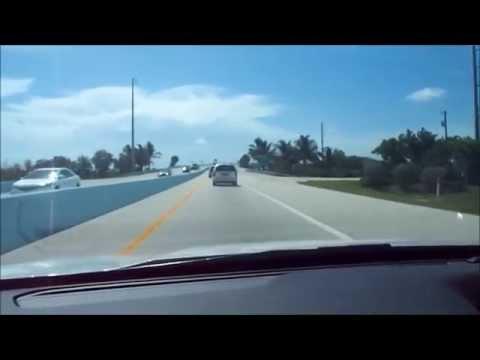 Driving over the bridge leading to Key Largo, FL