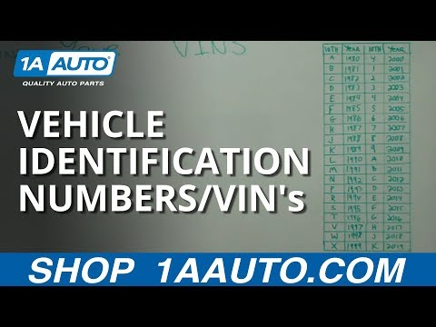 Decoding and Understanding Vehicle Identification Numbers / VIN's