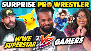 WWE Superstar Vs. Gamers | Fighting Games Challenge