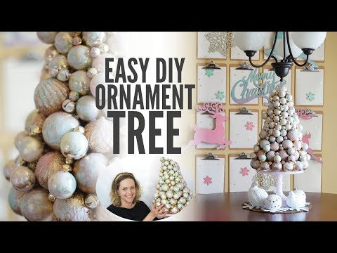 Elegant and Easy DIY Ornament Tree (simple holiday decor!)