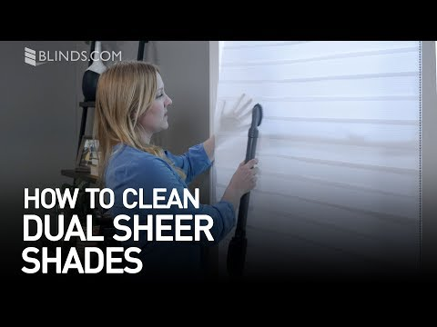 How to Clean Dual Sheer Shades