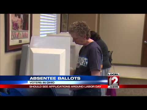 Absentee ballots should be received around Labor