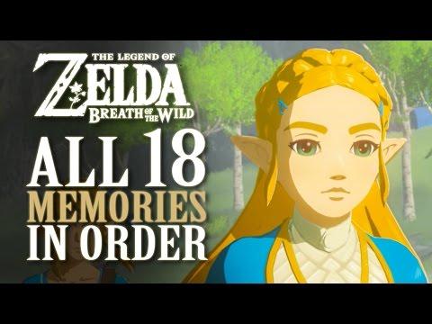 All 18 Memories In Order - Zelda Breath Of The Wild **SPOILERS**