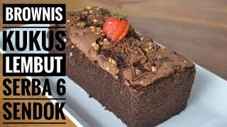 Brownies Kukus - Resep Brownies Kukus Lembut Serba 6 Sendok Tanpa Mixer dan Oven || Resep Ke 3