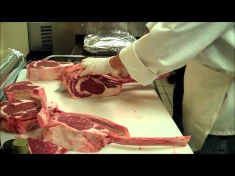 Cutting Bone In Ribeye