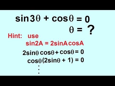 PreCalculus - Trigonometry: Trig Identities (53 of 57) Solve sin(2theta)+cos(theta)=0, theta=?