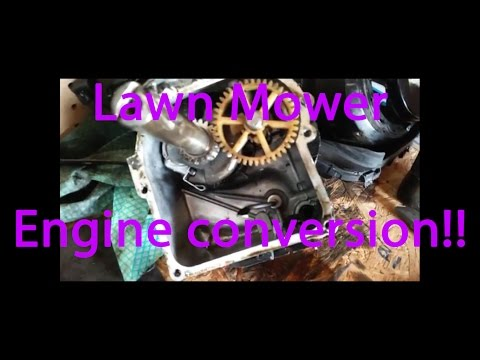 How to make a lawn mower engine into a go kart engine! ( Vertical to Horizontal )