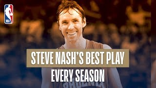 Steve Nash's Best Play Each Season Of His NBA Career!