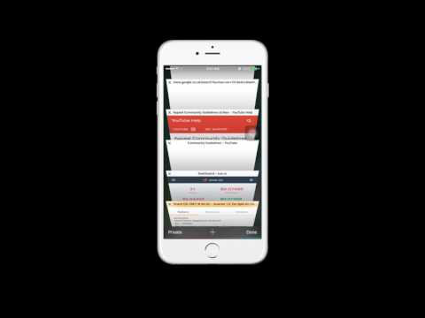 How to Close Multiple Safari Tabs at once on iOS 11