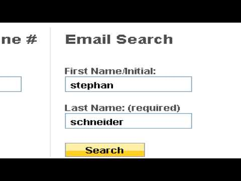 Web Site & Internet Help : How to Find Someone's E-Mail Address