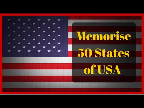 Learn the Names of 50 American States With An Easy Mnemonic