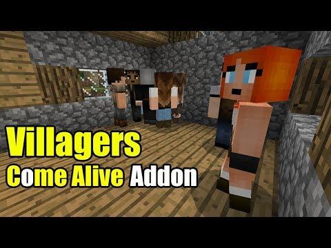 Villagers Come Alive Addon | Minecraft PE Gameplay Walkthrough