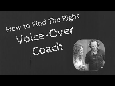How to Find the Right Voice-Over Coach