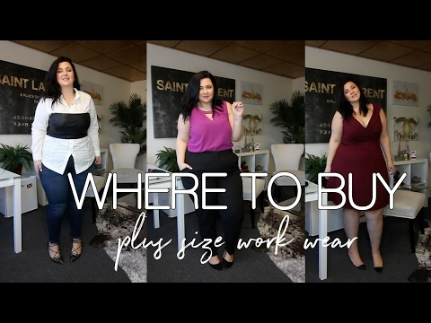 WHERE TO BUY PLUS SIZE WORK CLOTHES + 3 OUTFIT IDEAS