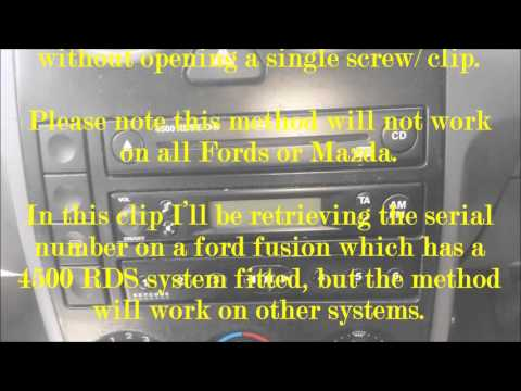 How to find the serial number on your radio sound system without taking it out | FORD MAZDA FIESTA