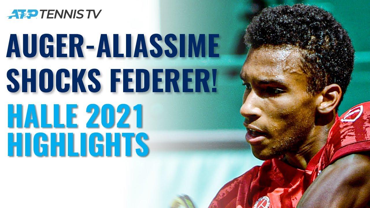 Felix Auger-Aliassime Shocks Roger Federer! | Halle 2021 Highlights