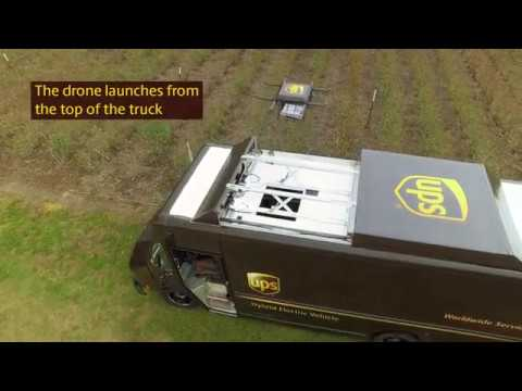 UPS drone test video