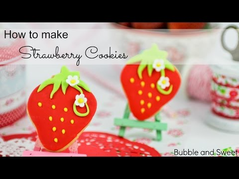How to make Sweet Strawberry decorated cookies