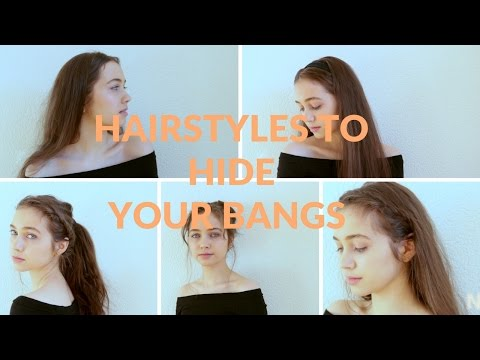 Hairstyles to hide your bangs