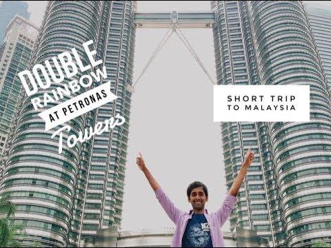 Transit Without Visa Malaysia   Rainbow on Petronas Towers