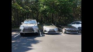 Atomic Silver 2018 LC 500h vs 2017 Lexus LX 570 (4K)