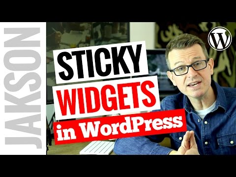 Fixed/Sticky Widget Wordpress Plugin - How to Create a