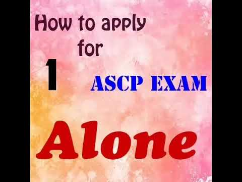 How to apply for ASCP Exam alone part 1