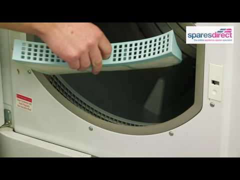 How to clean and replace the Tumble Dryer Fluff Filter | Oven Spares & Parts | 0800 0149 636