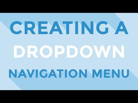 HTML & CSS : Creating a dropdown navigation menu