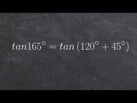 Evaluate tangent sum and difference formula