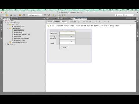 Creating a basic Database SWING App with NetBeans 3 of 6