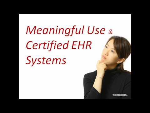 EHR/EMR: Overview of the Meaningful Use & Certification Criteria