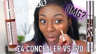 DUPES! NEW MAKEUP REVOLUTION  CONCEALERS VS THE NEW URBAN DECAY ALL NIGHTER CONCEALERS?