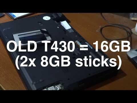 Changing the RAM and Keyboard in a Lenovo T430 laptop