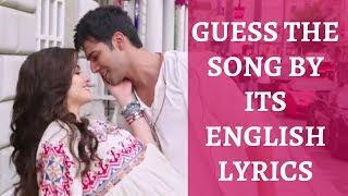 Guess the Song by its English Lyrics   Bollywood   #3
