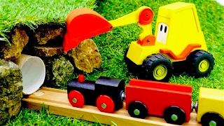 Excavadoras - Carritos para niños - Trenes - Videos para niños - Videos de juguetes