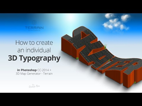 How to create an individual 3D typography - Photoshop tutorial