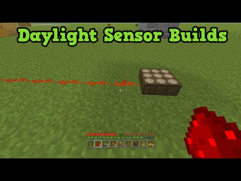 Minecraft Xbox 360 + PS3 - Daylight Sensor Tutorial + Builds