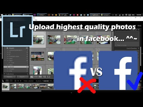 Lightroom: How to upload high quality photos to facebook?