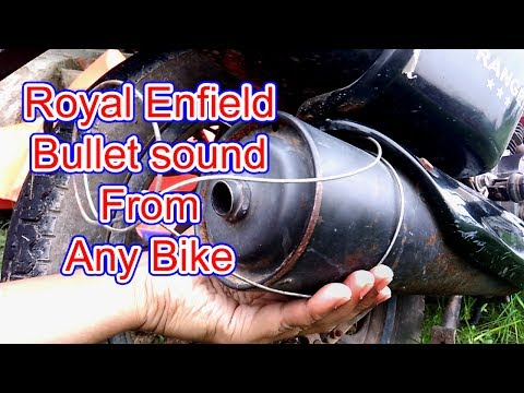 Royal Enfield Bullet Sound from any bike|amazing lifehack