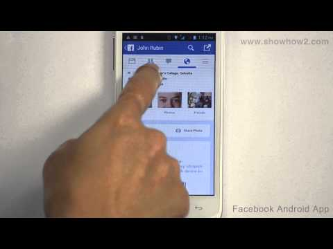 Facebook Android App - How To Post On Friend's Timeline