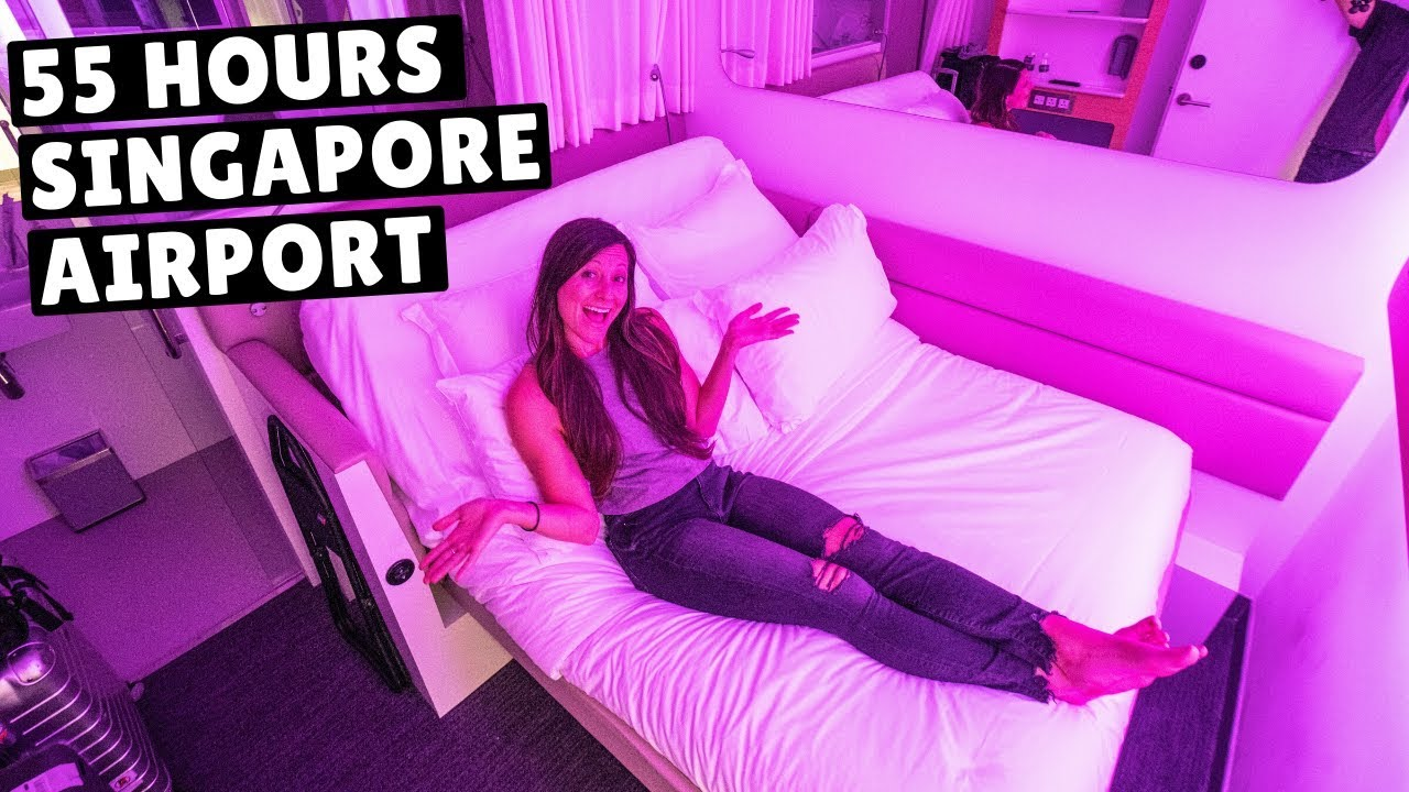 WE LIVED IN THE SINGAPORE AIRPORT (flying to our 99th country!)