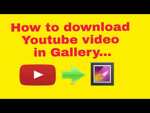 How to save youtube video in gallery |NEW TRICK|