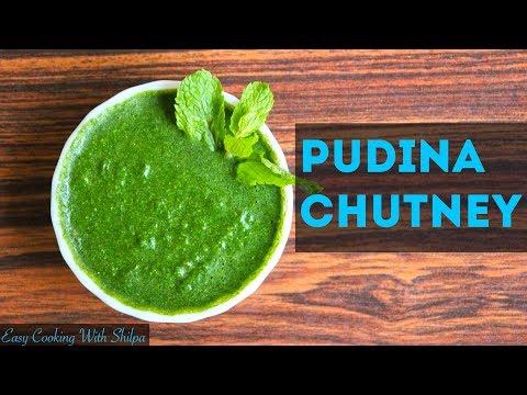 How to make PUDINA CHUTNEY (mint chutney) - EasyCookingWithShilpa