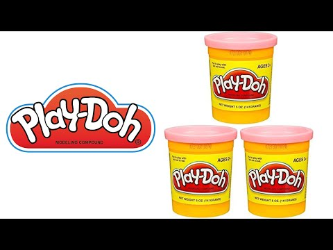 How to make PEACH (Pink) Hasbro Play Doh