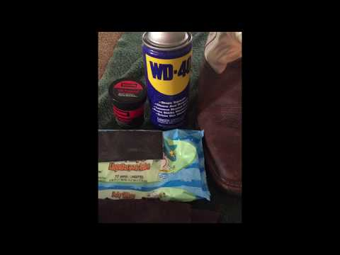 Cheap & Easy way to Clean, Restore, & Protect Your Leather with WD-40 & Baby WIpes!