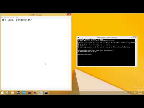 How to make an adhoc in Windows 8/8.1