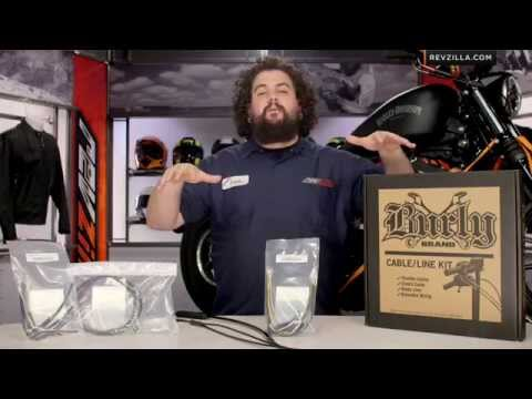 Burly Handlebar Cable Installation Kit for Harley Review at RevZilla.com
