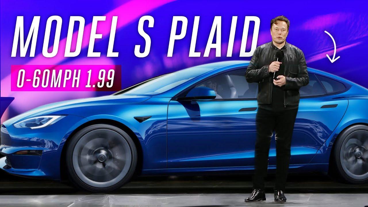 Watch Elon Musk deliver the Tesla Model S Plaid