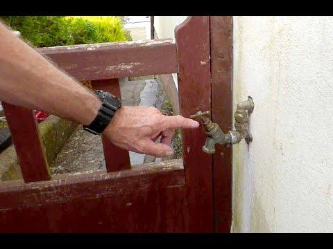 Jan fixes the leaking outside tap